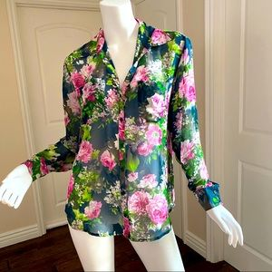 Gorgeous Sheer Floral Blouse size S